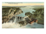 Dam at Long Lake, Washington Prints