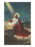 Jesus Christ Praying Posters