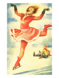 Acrobatic Skater Flitting By Poster