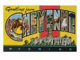 Greetings from Cheyenne, Wyoming Poster