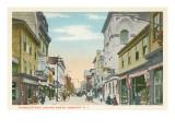 Thames Street, Newport, Rhode Island Poster