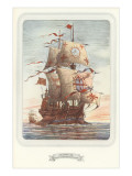 Square-Rigged Sailing Ship, Galleon Posters