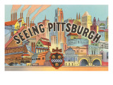 Seeing Pittsburgh, Pennsylvania, Graphics Prints