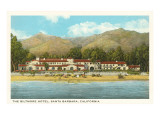 Biltmore Hotel, Santa Barbara, California Prints