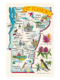 Map of Vermont Posters