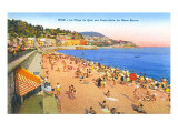 Beach at Nice, France Prints