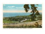 View over Santa Barbara, California Prints