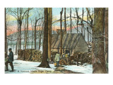 Maple Sugar Camp, Vermont Prints