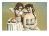 Victorian Mother and Child as Cupid Poster