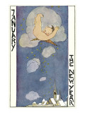 January, Cherub Falling out of Sky Poster