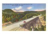 Charlton Memorial Bridge, West Virginia Turnpike Posters