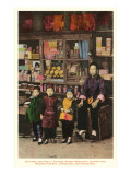 Merchant and Children, Chinatown, San Francisco, California Posters