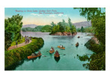 Stow Lake, Golden Gate Park, San Francisco, California Print