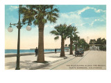 Boulevard along Beach, Santa Barbara, California Prints