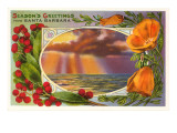 Season's Greetings, Sunset, Santa Barbara, California Posters