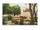 Grounds of Old Mission, San Diego, California Prints