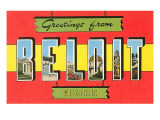 Greetings from Beloit, Wisconsin Posters