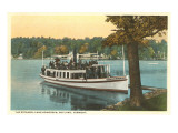 Steamer on Lake Bomoseen, Rutland, Vermont Posters