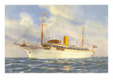 Passenger Ship under Swedish Flag Prints