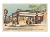 Vintage Gas Station Print