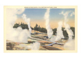 Norris Geyser Basin, Yellowstone National Park Posters