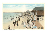 Beach Scene, Watch Hill, Rhode Island Posters