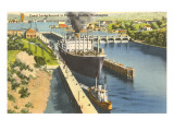 Canal Locks, Seattle, Washington Prints