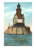 Reef Lighthouse, Racine, Wisconsin Posters