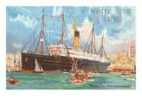 Ocean Liner White Star Line Arabic Print