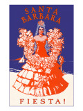 Poster for Fiesta Days, Santa Barbara, California Art
