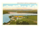 Aerial View of St. Mary's Villa, Clearwater Lake, Wisconsin Prints