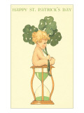 Happy St. Patrick's Day, Baby on Hourglass Reprodukcje