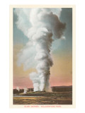 Giant Geyser, Yellowstone National Park Prints