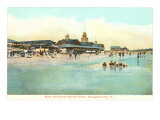 Beach and Pavilion, Narragansett Pier, Rhode Island Posters