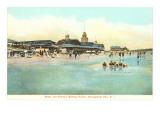 Beach and Pavilion, Narragansett Pier, Rhode Island Posters