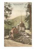 High Street y paseo, Harper's Ferry, Virginia Oeste Imágenes