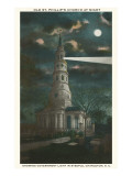 Moon over Old St. Philip's Church, Charleston, South Carolina Print