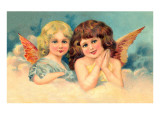 Young Girls as Cherubs, Illustration Prints
