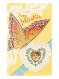 To My Valentine, Butterfly and Doily Posters