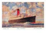 Cunard Lancastria, Ocean Liner Print