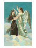 Angel with Widow Prints
