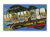 Greetings from Waupaca, Wisconsin Posters