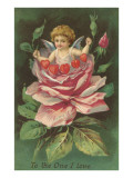 To the One I Love, Cupid in Rose Affiches