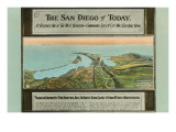 Early Map of San Diego, California Prints