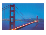 Golden Gate Bridge at Night, San Francisco, California Prints