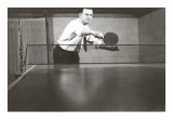 Photo of Man Playing Ping-Pong Poster