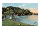 Snow Lake, Strawberry Hill, Golden Gate Park, San Francisco, California Print