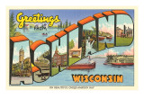Greetings from Ashland, Wisconsin Print