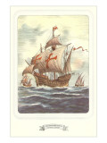 Columbus Caravels, Nina, Pinta, Santa Maria Posters