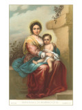 Madonna and Child by Murillo, Rome Poster